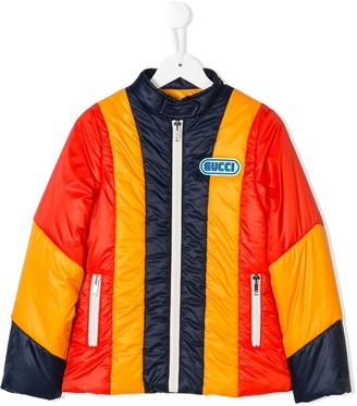 Gucci Kids Striped Padded Jacket