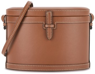 Hunting Season Trunk brown leather box bag