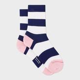Paul Smith Women's Navy And White Stripe Socks