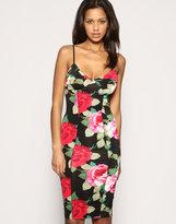 Asos Rose Print Body-Conscious Dress