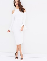 Shona Joy Lori Open Shoulder Body-Con Dress