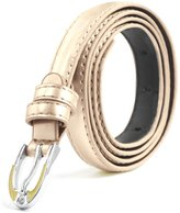 uxcell® Lady Single Pin Buckle Skinny Patent PU Waist Belt