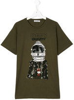 Dondup Kids Defy Gravity printed T-shirt