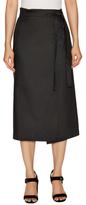 Helmut Lang Cotton Wrap Midi Skirt