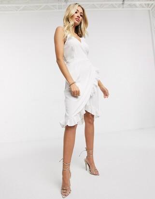 AX Paris cami strap mini dress in white