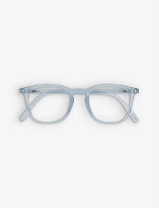 Izipizi Reading #E trapezium-frame acetate eye glasses +1.5