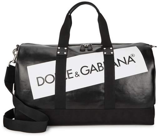 Dolce & Gabbana Black Logo-print Holdall