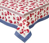 Pottery Barn Cherry Blossom Trellis Block Print Table Throw