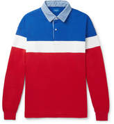 Beams Colour-Block Cotton Polo Shirt