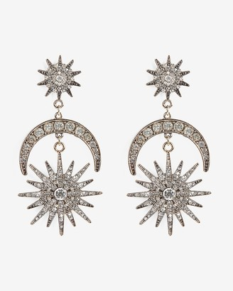 Express Tiered Rhinestone Stellar Drop Earrings