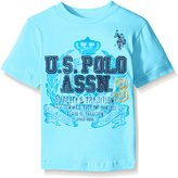 U.S. Polo Assn. Toddler Boys' Crew Neck Logo T-shirt with Appliques and Screen Printing
