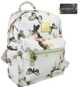 Donalworld Women Backpacks Girl Casual Flower Print PU Leather School Bags