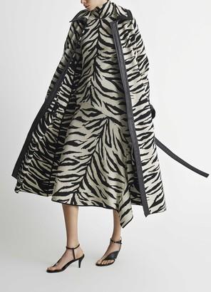St. John Iman White/Black Tiger Coat