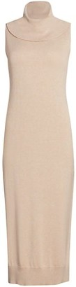 Joan Vass Petite Cowlneck Sweater Dress