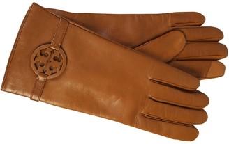 Tory Burch Logo Embellished Gloves