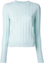 Jil Sander Navy crew neck jumper - women - Cotton/Rayon - M