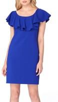 Tahari Petite Women's Ruffle Body-Con Dress
