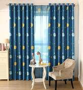 AiFish 1 Panel Blue Space Planet Galax and Little Star Pattern Lovely Blackout Curtains Window Treatment Drape Panels Space Exploration Kids Room Curtains for Boys Bedroom Grommet Top W52 x L96 inch