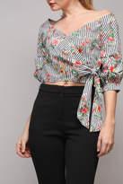 Do & Be Stripe Flower Top