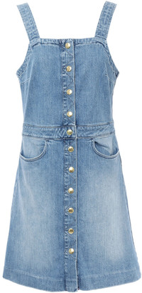 Frame Claire Faded Denim Mini Dress