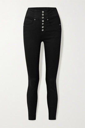 Veronica Beard Katherine High-rise Skinny Jeans - Black