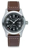 Hamilton Khaki Field Stainless Steel & Leather Strap Watch