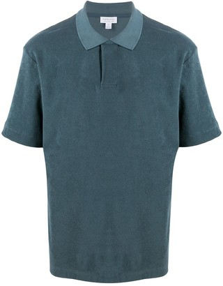 Sunspel Terry Short Sleeve Polo Shirt