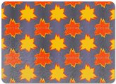 uneekee Flaming Leaf Placemat Vinyl Easy Clean Heat Insulation Stain-resistant
