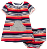 Toobydoo Maiori Striped Kangaroo Pocket Dress (Baby & Toddler Girls)