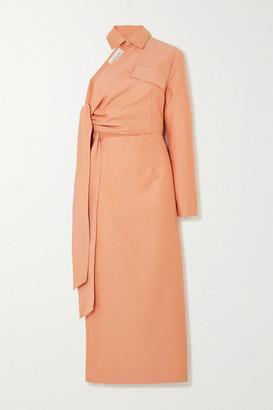ALEKSANDRE AKHALKATSISHVILI Asymmetric Cotton Midi Dress - Blush