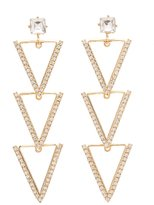 Charlotte Russe Embellished Triangle Drop Earrings