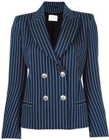 Pierre Balmain double breasted blazer - women - Cotton/Polyamide/Spandex/Elastane/Viscose - 38