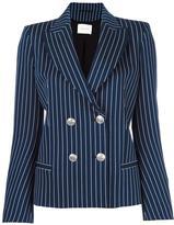 Pierre Balmain double breasted blazer - women - Cotton/Polyamide/Spandex/Elastane/Viscose - 38
