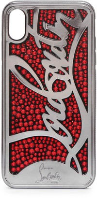 Christian Louboutin Ricky Strass Logo XS MAX iPhone case