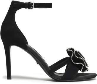 MICHAEL Michael Kors Floral-appliqued Crystal-embellished Suede Sandals
