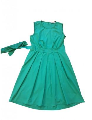 Marella Green Cotton Dress for Women