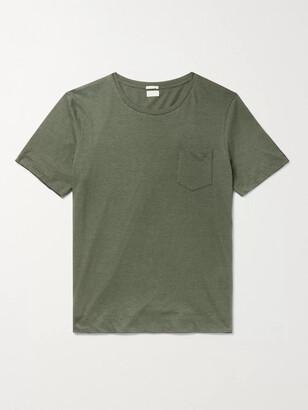 Massimo Alba Panarea Striped Cotton And Cashmere-Blend Jersey T-Shirt