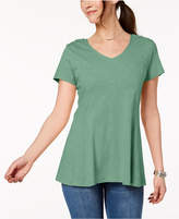 Style&Co. Style & Co V-Neck Swing T-Shirt, Created for Macy's