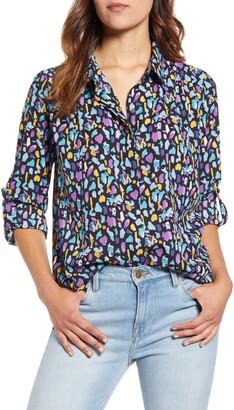 Gibson X City Safari Jaime Shrayber Animal Print Hidden Placket Shirt