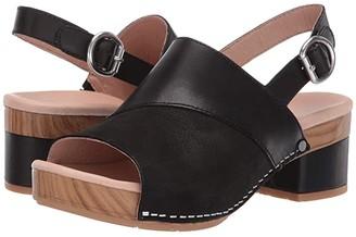 Dansko Madalyn (Black Burnished Calf) Women's Wedge Shoes
