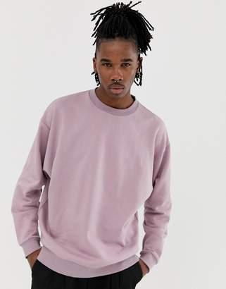 Asos Design DESIGN oversized sweatshirt in dusty purple