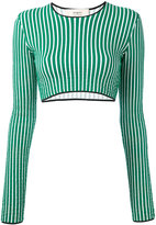 Ports 1961 striped cropped sweater - women - Cotton - S