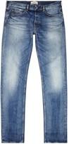Stone Island Blue Stonewashed Slim-leg Jeans