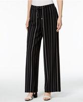 Calvin Klein Striped Wide-Leg Soft Pants