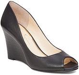 Jessica Simpson Laryssa Peep Toe Slip-On Wedges
