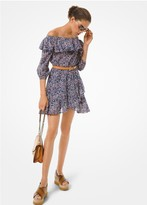 MICHAEL Michael Kors Floral Cotton Lawn Off-the-Shoulder Dress
