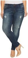 KUT from the Kloth Plus Size Catherine Boyfriend in Allowing/Dark Stone Base Wash Women's Jeans
