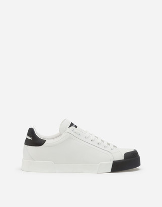 Dolce & Gabbana Calfskin Nappa Portofino Sneakers With Rubber Toe