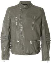 Neil Barrett distressed leather jacket