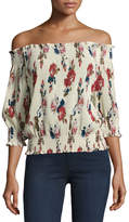 Romeo & Juliet Couture Floral-Chiffon Off-the-Shoulder Blouse, Multipattern